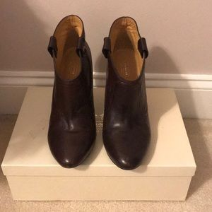 Coach Aliza Brown Leather Short Boots
